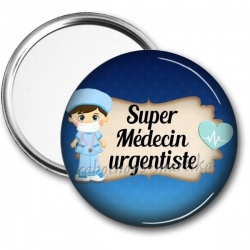 Miroir de poche - super médecin urgentiste