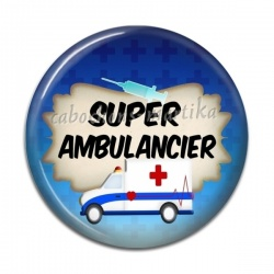 Cabochon Résine - super ambulancier