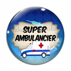Cabochon Verre - super ambulancier
