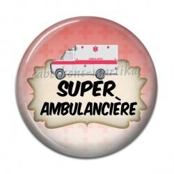 Cabochon Résine - super ambulancière