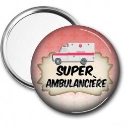 Miroir de poche - super ambulancière