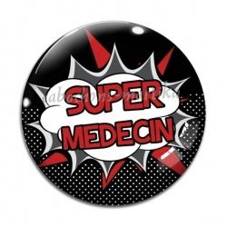 Cabochon Verre - super médecin