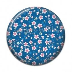 Cabochon Résine - fleur liberty