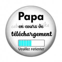 Cabochon Résine - papa en cours de telechargement