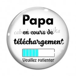 Cabochon Verre - papa en cours de telechargement
