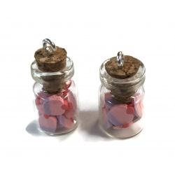 1 fiole pendentif cup cake