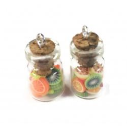 1 fiole pendentif salade de fruits