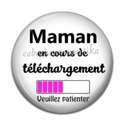 Cabochon Résine - maman en cours de telechargement