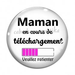 Cabochon Verre - maman en cours de telechargement