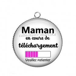 Pendentif Cabochon Argent - maman en cours de telechargement