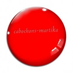 Cabochon Verre - fond rouge