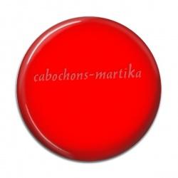 Cabochon Résine - fond rouge