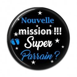 Cabochon Résine - nouvelle mission super parrain
