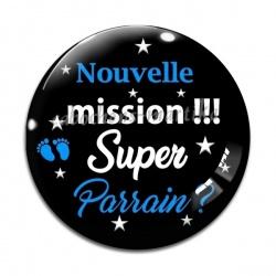 Cabochon Verre - nouvelle mission super parrain
