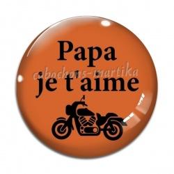 Cabochon Verre - papa je t'aime