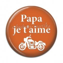 Cabochon Résine - papa je t'aime