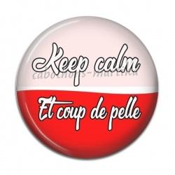 Cabochon Résine - keep calm et coup de pelle