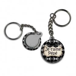 Porte clés - je t'aime pépé