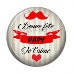 Cabochon Résine - Bonne fête Papy je t'aime
