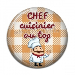 Cabochon Résine - chef cuisinier
