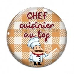Cabochon Verre - chef cuisinier