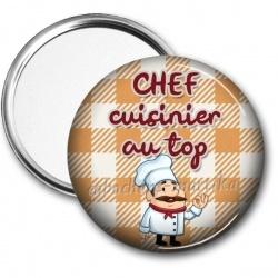 Miroir de poche - chef cuisinier