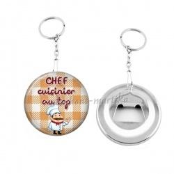 Porte clés décapsuleur - chef cuisinier