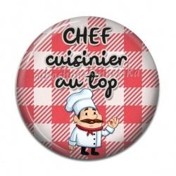 Cabochon Résine - chef cuisinier au top