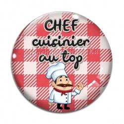 Cabochon Verre - chef cuisinier au top