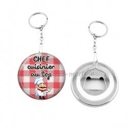 Porte clés décapsuleur - chef cuisinier au top