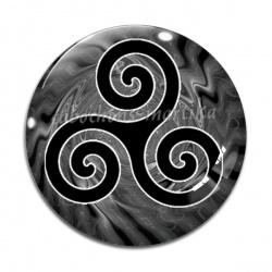 Cabochon Verre - motifs triskel